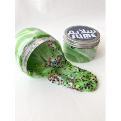 YIPPEE! Sensory Candy Cane Slime by Natalie - Green Color