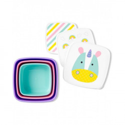 Skip Hop Toddler Food Storage Snack Box Set, Unicorn