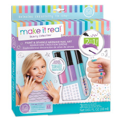 Make It Real - Paint & Sparkle Mermaid Nail Art