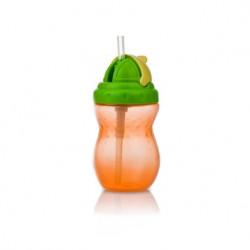 Nuby Flip-it Leakproof Straw Bottle (320ml), Orange