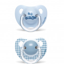 Suavinex 2-Piece Evolut Anatomic Soother (6-18 Months) - Blue