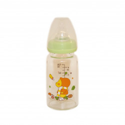 Potato Feeding Glass Bottle 120 ml, Green