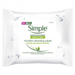 Simple Facial Micellar Wipes 25 pieces