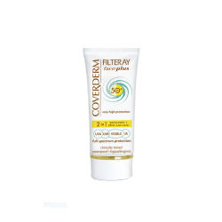 Coverderm - Filteray Face Plus SPF 50 Very High Protection Face Cream For Oily Acneic Skin (50Ml)