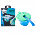 Tommee Tippee Cool & Mash Weaning Bowls 4M+, Blue