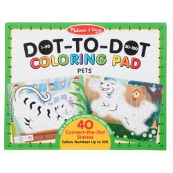 Melissa and Doug 123 Dot-to-Dot Coloring Pads - Pets