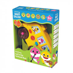 Pinkfong Babyshark Lets Go School Bus, Multi-Colour