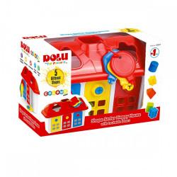 Dolu - Happy House Shape Sorter with Lockable Doors