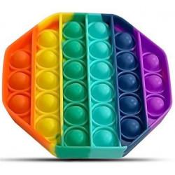 Chuckle & Roar Pop it Fidget Toy Rainbow Octagon