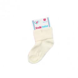2 Pairs of Baby Socks New born, Creamy