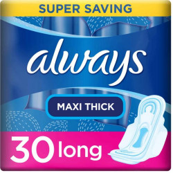 Always Maxi Thick Long Sanitary Pads With Wings – 30 Pieces