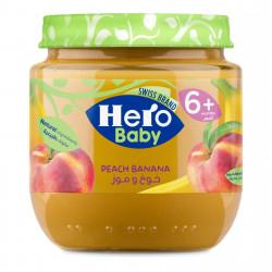 Hero Baby Fruit Puree Peach and Banana, 125g