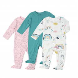 Colorland - Baby Romper 3 Pieces In One Pack - 0-3 Months