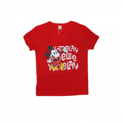 Short Sleeves T-shirt with Mickey Design, 6m+, Red