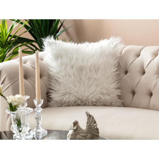 غطاء وسادة مدام كوكو بوست (45 × 45 سم) - أبيض
