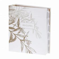 مجلد الوصفة - بتصميم ابيض و اخضر