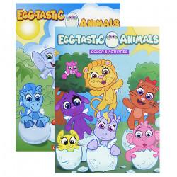 كتاب أنشطة تلوين بيض  الحيوانات من بازيك
