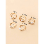 5 قطع خاتم زهرة