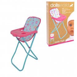 كرسي مرتفع فاخر للدمى .من دولز وورلد ماجيك