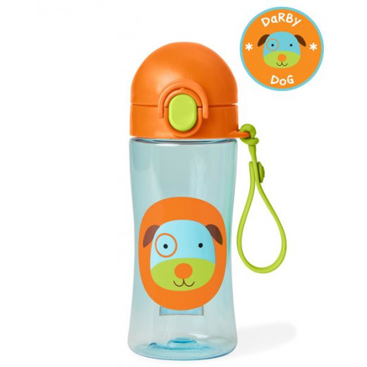 قارورة ماء مع مصاصة لتدريب لاطفال الصغار على الشرب بشكل طبيعي من سكيب هوب, الكلب